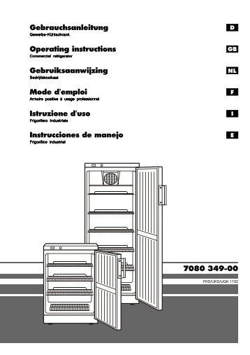 7080 349-00 Mode d'emploi Gebruiksaanwijzing ... - NordCap