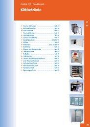 Preisliste 2010 - Produktbereich