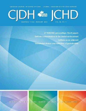 Comparison of interdental brush to dental floss - CDHA