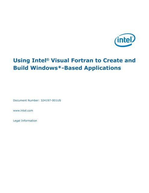Using Intel® Visual Fortran to Create and Build Windows