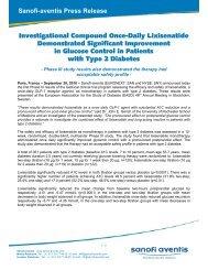 Investigational Compound Once-Daily Lixisenatide ... - Sanofi