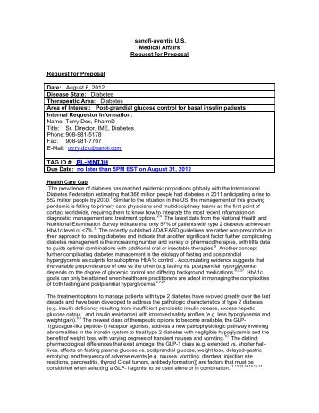 sanofi-aventis US Medical Affairs Request for Proposal - Alliance for ...