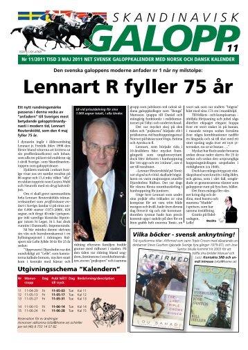 Lennart R fyller 75 år - Øvrevoll Galoppbane