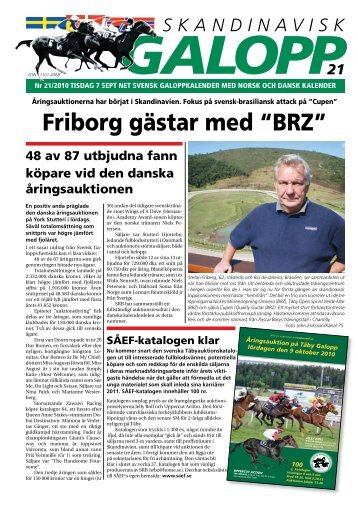 """Friborg gästar med """"BRZ"""" - Øvrevoll Galoppbane"""