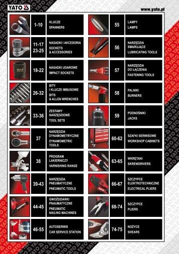 Katalog YATO - Moto narzędzia