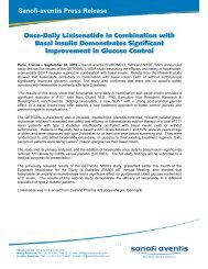 Once-Daily Lixisenatide in Combination with Basal Insulin ... - Sanofi