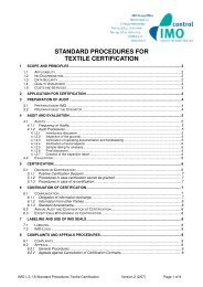 IMO I 2 1 8 Standard Procedure for Textile Certification