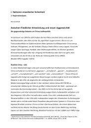 Zwischen friedlicher Entwicklung und neuer Aggressivität ( PDF , 556