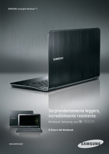 Sorprendentemente leggero, incredibilmente resistente. - Samsung ...