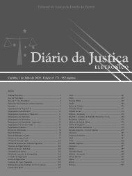 Curitiba, 1 de Julho de 2009 - Tribunal de Justiça do Estado do ...