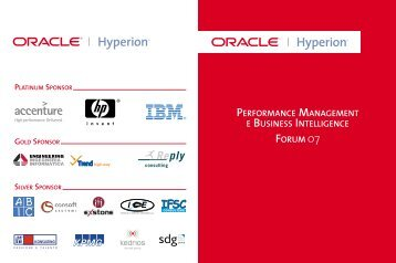 PERFORMANCE MANAGEMENT E BUSINESS INTELLIGENCE ...