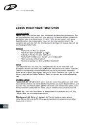 LEBEN IN EXTREMSITUATIONEN - ICF Bern