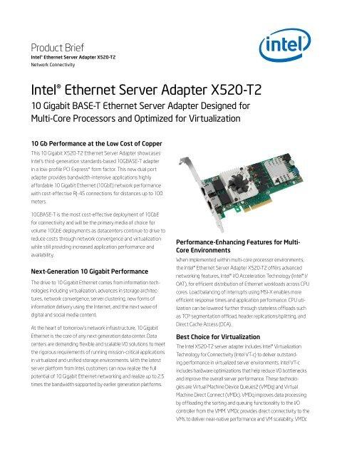Intel® Ethernet Server Adapter X520-T2 - downloadmirror