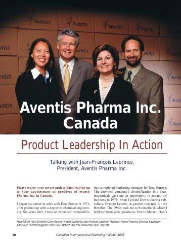 Aventis Pharma Inc. Canada - STA Communications