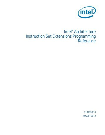 Intel® Architecture Instruction Set Extensions Programming Reference
