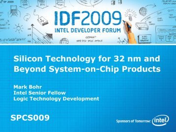 Silicon Technology for 32 nm and Beyond System-on-Chip Products ...