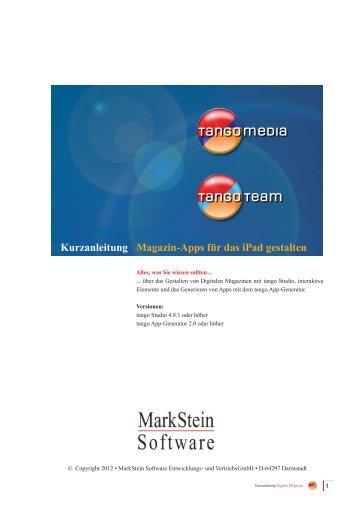 Kurzanleitung Digitale Magazine - MarkStein Software
