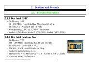 2. Pentium und Freunde 2.1. Pentium Baureihen 2.1.1 Der Intel ...