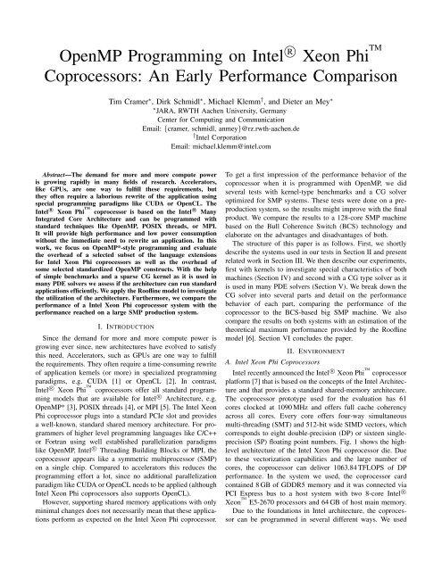 Xeon coprocessor performance programming phi intel pdf high