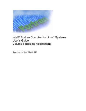 Intel® Fortran Compiler for Linux* Systems User's Guide
