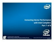 Extracting Vector Performance with Intel Compilers Part 7 of 8