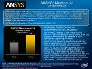 Intel Xeon(r) Processor(r) E5 Famliy Enabled Applications ... - Ansys
