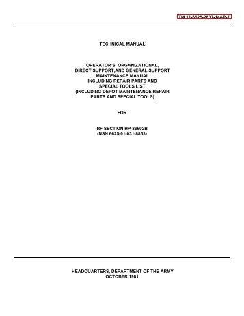 TM 11-6625-2837-14&P-7 TECHNICAL MANUAL OPERATOR'S ...