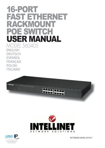 Intellinet 16-Port Fast Ethernet Rackmount PoE Switch ... - Use-IP