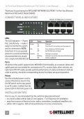 Intellinet 16-Port Fast Ethernet Rackmount PoE Switch ... - Use-IP - Page 2