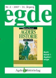 Egde - Agder Historielag 02 2007 - 32 side - 4+1 - ny:Egde - Agder ...