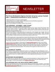 CDA Newsletter Nov 09 (PDF) - Circus Arts Development Agency