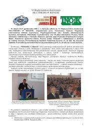 VI Międzynarodowa Konferencja MULTIMEDIA W BIZNESIE