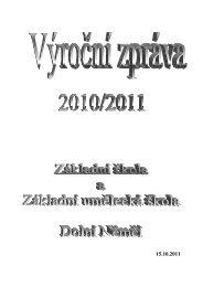 16. Výroční zpráva o činnosti ZUŠ za školní rok 2010/2011
