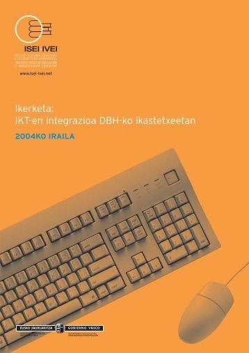 Ikerketa: IKT-en integrazioa DBH-ko ikastetxeetan - ISEI