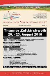 Jahrgang 39 Donnerstag, den 18. August 2010 ... - Markt Bechhofen