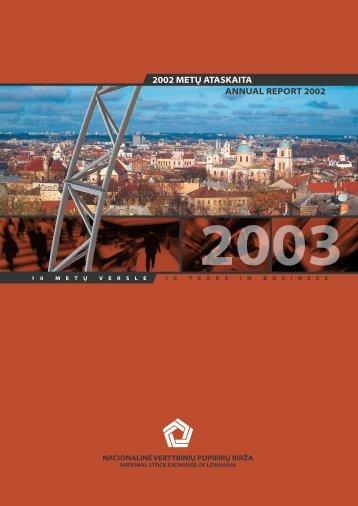 2002 m. - NASDAQ OMX Baltic
