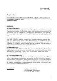Protokoll GV-Sitzung RFI 2010 - Marktgemeinde Nenzing
