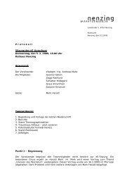 Protokoll Sitzung vom 05.02.2009 - Marktgemeinde Nenzing