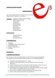 Protokoll Sitzung vom 27.10.2011 - Marktgemeinde Nenzing