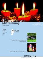 Bürgermeistermitteilung 12/04 - Marktgemeinde Nenzing