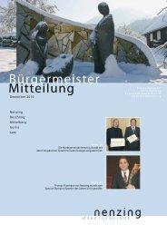 Bürgermeistermitteilung 10/04 - Marktgemeinde Nenzing