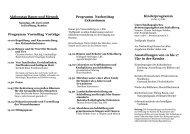 Aktionstag Baum und Mensch Programm Vormittag Vorträge ...