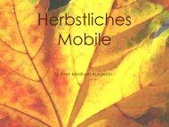 Herbstliches Mobile (Windspiel) - Alte Mälzerei
