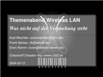 WLAN-Vortrag - C3D2