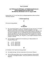 und Gebührensatzung zur Wasserabgabesatzung - Markt Nandlstadt
