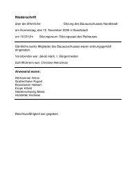 Fortsetzungsblatt zur Niederschrift - Markt Nandlstadt