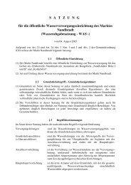 2005 - Satzung - Wasserabgabesatzung WAS - Markt  Nandlstadt