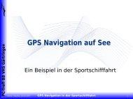 GPS Navigation auf See - PC-Treffs-BB
