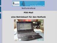 PSK-Mail eine Betriebsart für den Notfunk - Amateurfunk
