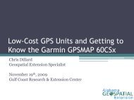 Introduction to GIS and GPS - Alabama Cooperative Extension System